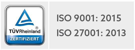Qualitätsmanagementsystem DIN ISO 9001 zertifiziert